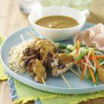 Harris Farms - Satay Chicken Skewers - Recipe Cards, POS